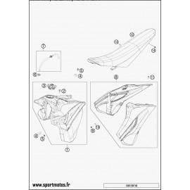 Réservoir, Selle, Cache réservoir (Husaberg FE 450 2014)