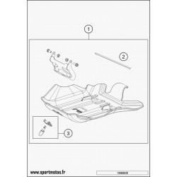 SKID PLATE PLASTIC CPL. (Husqvarna TE 250 2016)