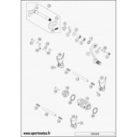 Mécanisme Chgt vitesse (Husaberg FE 501 2014)