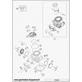 Cylindre, culasse (Husqvarna TE 250 2017)