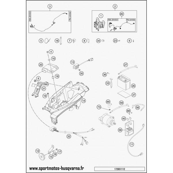 Wiring Harness 2t Exc 14 Husqvarna Te 250 2017 Sportmotos