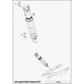 Amortisseur arrière (Husqvarna FE 350 2017)