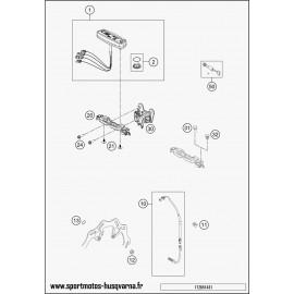 Instrumentation, blocage colonne (Husqvarna FE 350 2017)