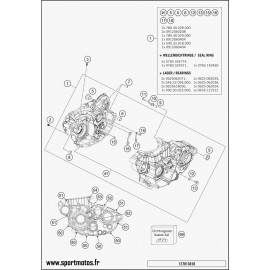 Carter moteur (Husqvarna FE 501 2016)