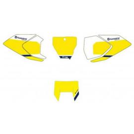 Fonds de plaques jaunes