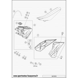 Réservoir, Selle, Cache réservoir (Husqvarna TC 85 17 p 2017)