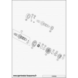 Transmission, arbre primaire (Husqvarna FC 450 2017)