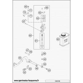 Commande de frein arrière (Husqvarna TC 50 2017)