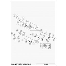 Mécanisme Chgt vitesse (Husqvarna TC 65 2017)