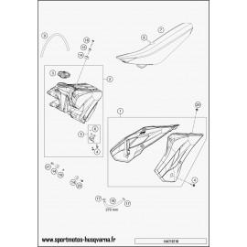 Réservoir, Selle, Cache réservoir (Husqvarna TC 85 19 p 2017)
