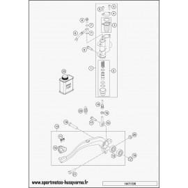 Commande de frein arrière (Husqvarna TC 85 19 p 2017)
