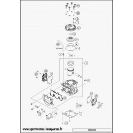 Cylindre, culasse (Husqvarna TC 125 2017)