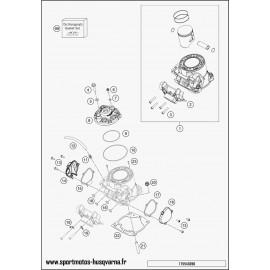 Cylindre, culasse (Husqvarna TC 250 2017)