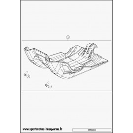 Protection moteur, sabot (Husqvarna FE 501 2017)