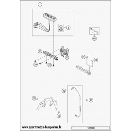 Instrumentation, blocage colonne (Husqvarna FE 501 2017)