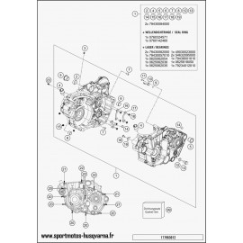 Carter moteur (Husqvarna FE 501 2017)