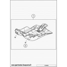 Protection moteur, sabot (Husqvarna TE 300 2017)