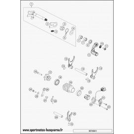 Mécanisme Chgt vitesse (Husqvarna FE 250 2017)