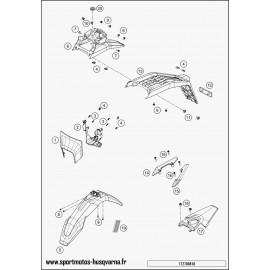 Plastiques, garde-boue, écope, plaque latérale (Husqvarna SUPERMOTO 701 2017)