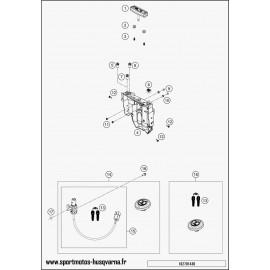 Instrumentation, blocage colonne (Husqvarna SUPERMOTO 701 2017)