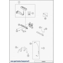 Instrumentation, blocage colonne (Husqvarna FE 250 2018)