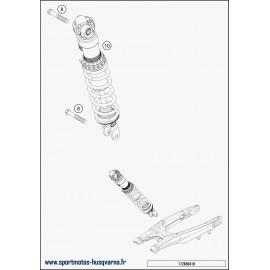 Amortisseur arrière (Husqvarna FE 350 2018)
