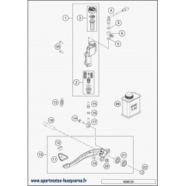 Commande de frein arrière (Husqvarna FE 450 2018)
