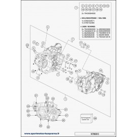 Carter moteur (Husqvarna FE 450 2018)