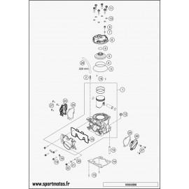 Cylindre, culasse (Husqvarna TC 125 2016)