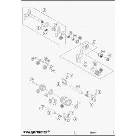 Mécanisme Chgt vitesse (Husqvarna TC 250 2016)