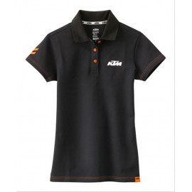 GIRLS RACING POLO BLACK