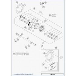 SPOKE M4,5X193- 18'' 16 (Husqvarna TX 125 2019)