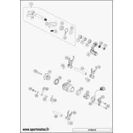 Mécanisme Chgt vitesse (Husqvarna FC 250 2016)