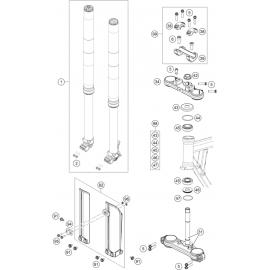 Fourche avant, Té de fourche (KTM 50 SX 2018)