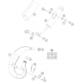 Echappement (KTM 50 SX 2018)