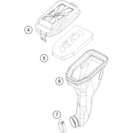 Filtre à air (KTM 50 SX 2018)