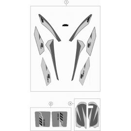 Décos, adhésif (KTM 50 SX 2018)