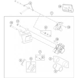 Etrier de frein arrière (KTM 50 SX 2018)