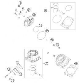 Cylindre, culasse (KTM 50 SX 2018)