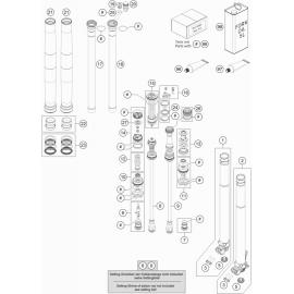 Fourche avant éclatée (KTM 350 SX-F 2018)