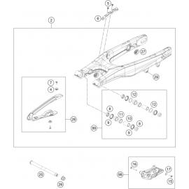 Bras oscillant (KTM 350 SX-F 2018)
