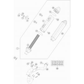 Echappement (KTM 350 SX-F 2018)