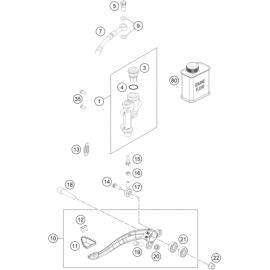 Commande de frein arrière (KTM 350 SX-F 2018)