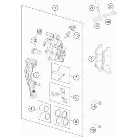 Etrier de frein avant (KTM 350 SX-F 2018)