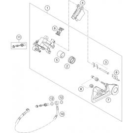 Etrier de frein arrière (KTM 350 SX-F 2018)