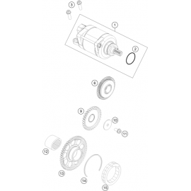 Démarreur électrique (KTM 350 SX-F 2018)