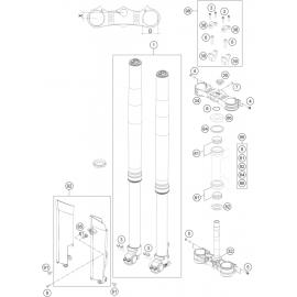 Fourche avant, Té de fourche ( Husaberg TE 125 2014 )