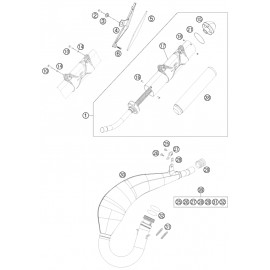Echappement ( Husaberg TE 125 2014 )