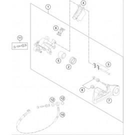 Etrier de frein arrière ( Husaberg TE 125 2014 )