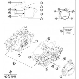Carter moteur ( Husaberg TE 125 2014 )